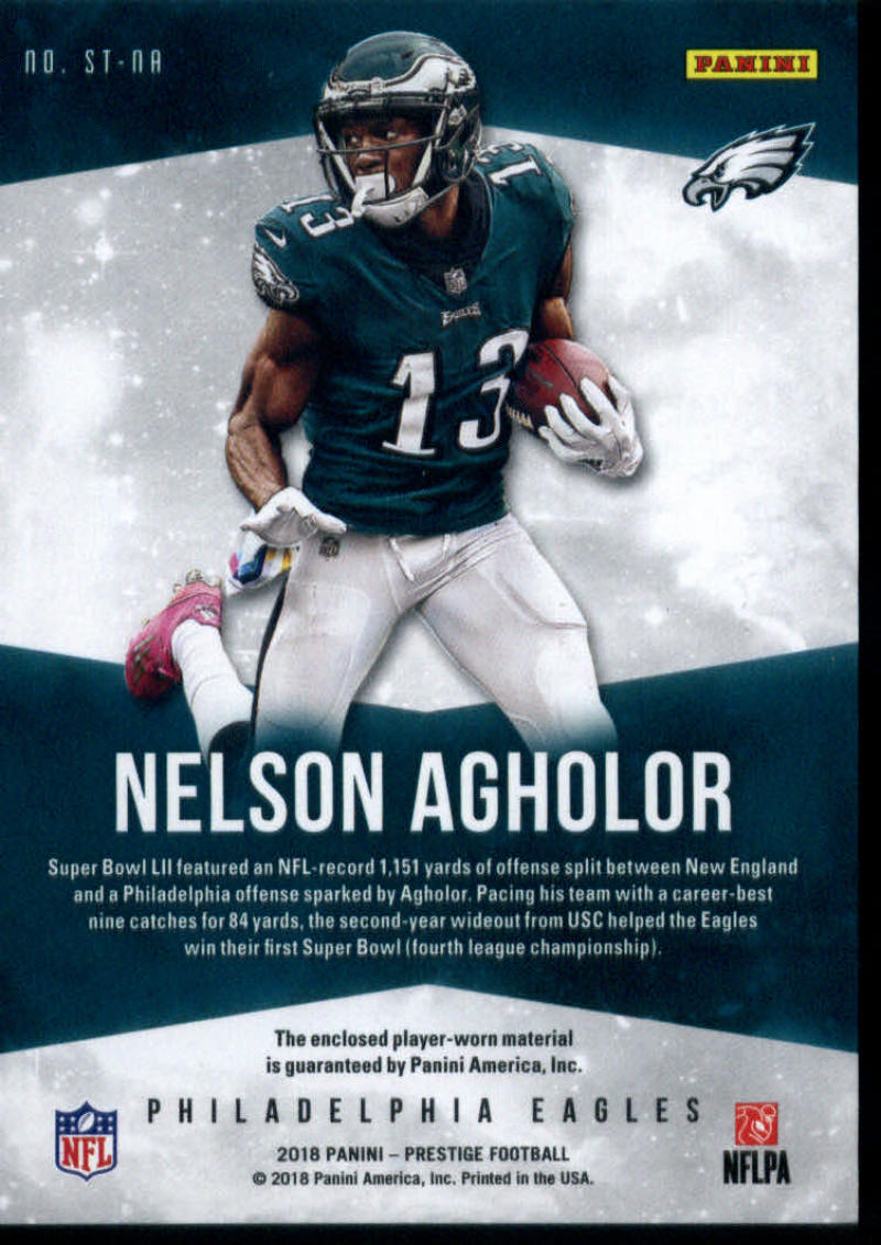 newest 86fb7 9b10d Details about 2018 Prestige Stars of NFL Jerseys Prime Gold #17 Nelson  Agholor 09/25 Eagles