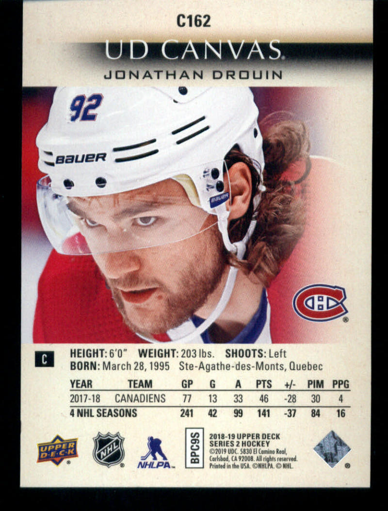 2018-19-Upper-Deck-Series-2-Canvas-Young-Guns-Rookie-RC-Hockey-Cards-You-Pick miniature 13