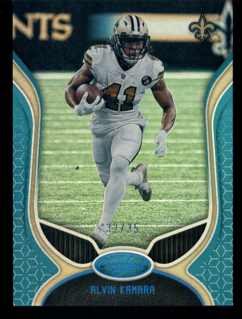 los angeles 1094d ca9be Details about 2019 Certified Mirror Teal #84 Alvin Kamara 32/35 New Orleans  Saints