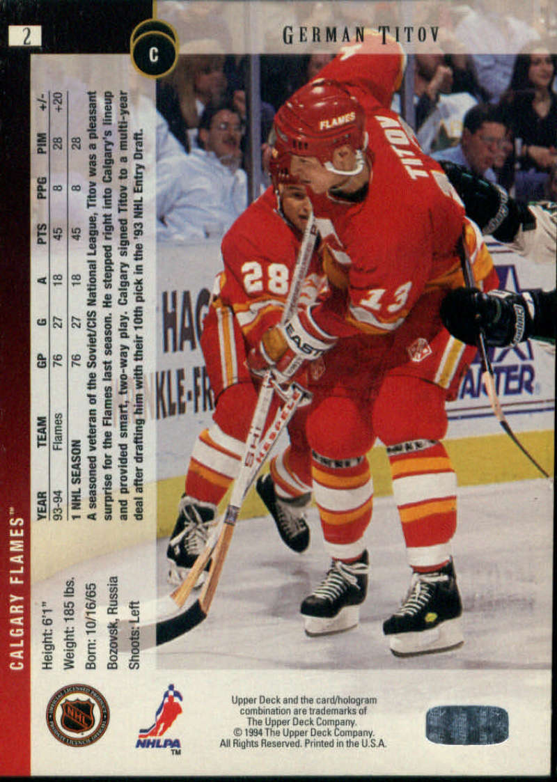1994-95-Upper-Deck-NHL-Hockey-Card-Singles-Complete-Your-Set-You-Pick-151-270 miniature 95